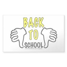 Two Thumbs Down School Sticker (Rectangle)