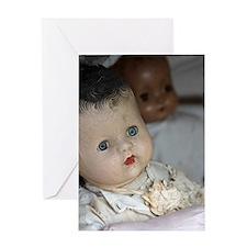 Creepy Dolls Greeting Card
