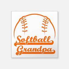 "SOFTBALL GRANDPA Square Sticker 3"" x 3"""