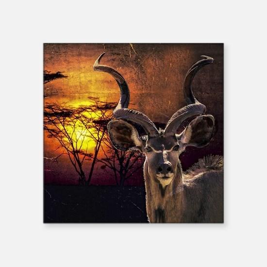 "Antelope Sunset Square Sticker 3"" x 3"""