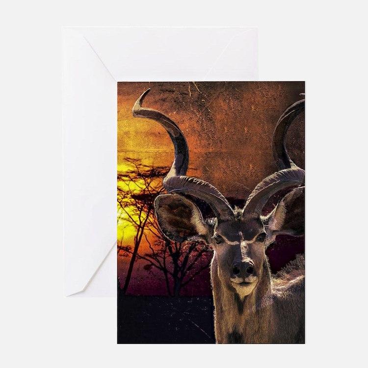 Antelope Sunset Greeting Cards