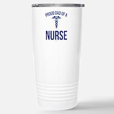 Proud Dad of a Nurse Stainless Steel Travel Mug