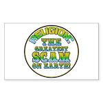 Religion / Scam Rectangle Sticker