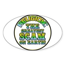 Religion / Scam Oval Decal