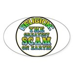 Religion / Scam Oval Sticker