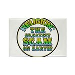 Religion / Scam Rectangle Magnet (100 pack)