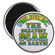 "Religion / Scam 2.25"" Magnet (10 pack)"