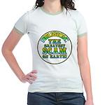 Religion / Scam Jr. Ringer T-Shirt