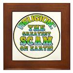 Religion / Scam Framed Tile