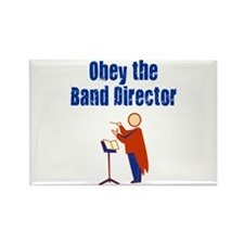 Obey the Band Director Rectangle Magnet