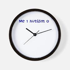 Autism sucks cock Wall Clock