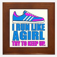 Run Like a Girl II Framed Tile