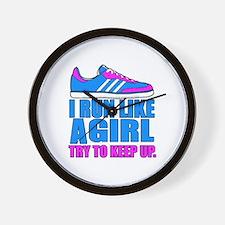 Run Like a Girl II Wall Clock