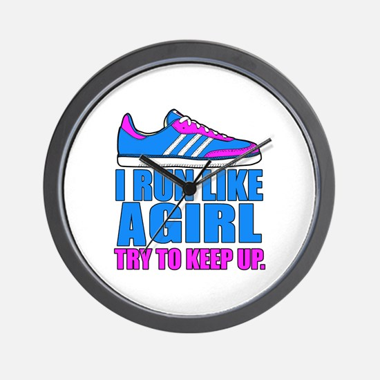 Run Like a Girl II Wall Clock