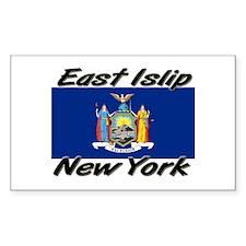 East Islip New York Rectangle Decal