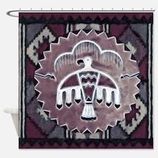 Purple Thunderbird Shower Curtain