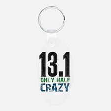 half marathon half crazy Keychains