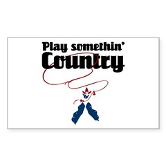 Somethin' Country Rectangle Decal