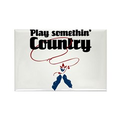 Somethin' Country Rectangle Magnet