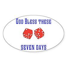 Seven Days Christian Kane Decal