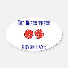 Seven Days Christian Kane Oval Car Magnet