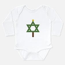Funny Christmukkah Long Sleeve Infant Bodysuit