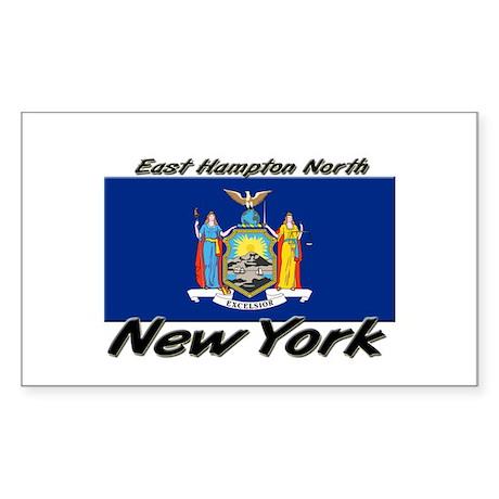East Hampton North New York Rectangle Sticker
