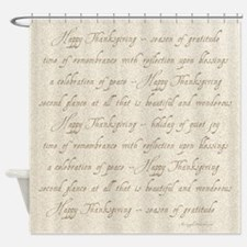 Funny Calligraphy Shower Curtain