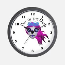 Day Of The Dead Girl Wall Clock