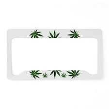 Stoned 420 Leaf Print License Plate Holder