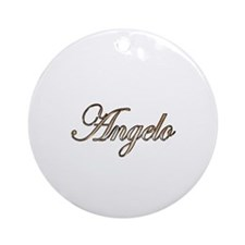 Gold Angelo Round Ornament