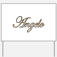 Gold Angelo Yard Sign