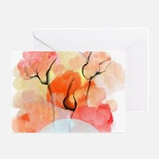 Abstract Flower Bouquet Greeting Card