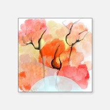 """Abstract Flower Bouquet Square Sticker 3"""" x 3"""""""