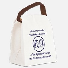 Left Freethinkers Canvas Lunch Bag