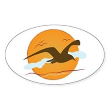 Seagull Sunset Decal