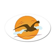 Seagull Sunset Wall Decal