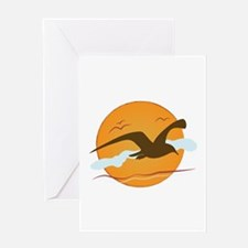 Seagull Sunset Greeting Cards