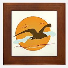 Seagull Sunset Framed Tile