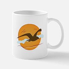 Seagull Sunset Mugs