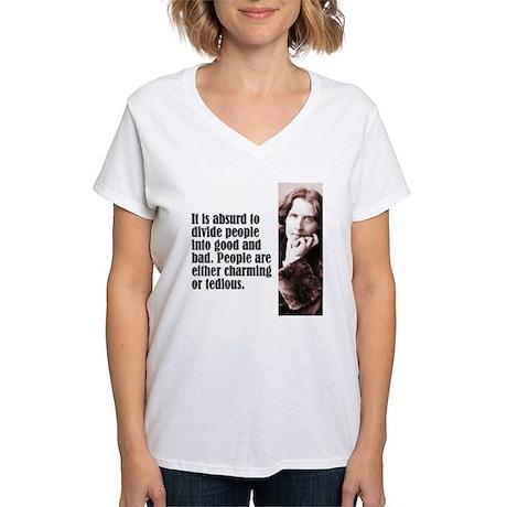 """Wilde """"Absurd"""" Women's V-Neck T-Shirt"""