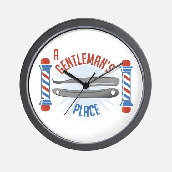 Gentlemans Place Wall Clock