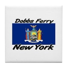 Dobbs Ferry New York Tile Coaster