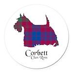 Terrier-Corbett.Ross Round Car Magnet
