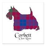 Terrier-Corbett.Ross Square Car Magnet 3