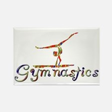 Cute Girls gymnast Rectangle Magnet