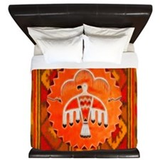 Orange Thunderbird King Duvet