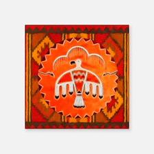 "Orange Thunderbird Square Sticker 3"" x 3"""
