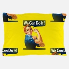 rosie the riveter Pillow Case
