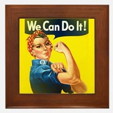 rosie the riveter Framed Tile